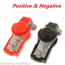 2pc Auto Car Adjustable Battery Terminal Clamp Clips Positive Negative Universal
