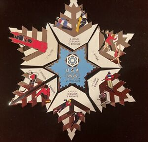 2006 WINTER OLYMPICS Torino Snowflake 7 Piece Puzzle Pin Set COLLECTOR'S EDITION