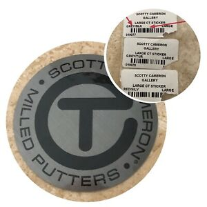"""SCOTTY CAMERON """"LARGE CT STICKER - GRAY / BLACK"""" 3 1/4"""" AND NWT!"""