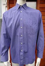 """Christian Dior Púrpura Cheque botón en puños Camisa De Algodón Uk 16"""" 41 Cm Impecable"""
