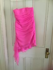 LADIES  DRESS -  SIZE 8 ABOVE KNEE LENGTH  CHIFFON COCKTAIL - PINK IN VG TO EX.