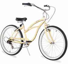 "26"" Beach Cruiser Bike Bicycle Firmstrong Urban women 7 spd vanilla"