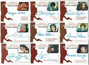 Women of James Bond Various Sets Autograph Card Selection WA