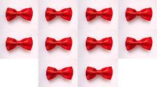 LOT OF 10 Red Men's Adjustable Bowties/Bow tie Tuxedo Wedding