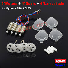 4PCS CW & CCW Motor+Gear Wheel+Lampshade for Syma X5UC X5UW RC Drone Spare Parts
