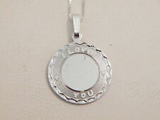"Jewellery - Platinum & Sterling Silver ""I Love You"" Pendant - Deceased Estate"