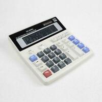 Dual Power Solar & Battery 12 Digits Calculator Desktop Desk Large Buttons X7H0