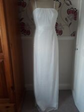 BHS JULIET SEQUIN IRORY FULL LENGTH BRIDAL WEDDING DRESS SIZE 8 - BNWT RRP £130