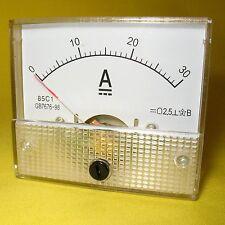 Current Panel Meter 30 Amp Analog Direct Display Solar Battery 12V 24V DC 30A 85