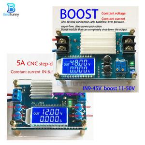 5A DC-DC Buck/Boost Converter Step-Up/Down CC CV LCD Power Supply Module + Shell