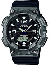 Casio AQS810W-1A4 Tough Solar Analog Digital Sports Watch 5 Alarms 100M Black