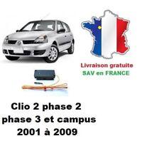 Boitier de désactivation antidémarrage Renault Clio 2 phase 2, phase 3 ou Campus