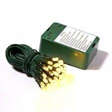Vickerman X16G236 35Lt Battery Operated Warm White & Green Wire Led Outdoor Time