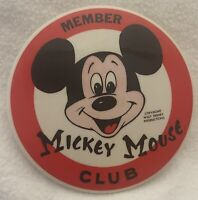 """Mickey Mouse Club Member Pin Back Button 3½"""" Walt Disney Productions"""