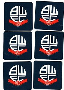 BOLTON WANDERERS F.C. Crested Pack of Beer Mats / Coasters FREE POSTAGE UK