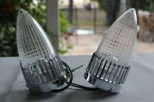 59 Cadillac Bullet Tail Lamp Lights Clear Lens Pair Custom Truck Hot Rat Rod