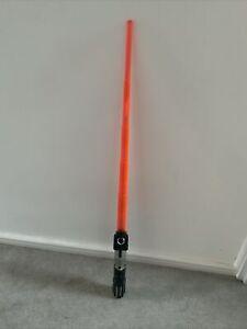 2006 STAR WARS Darth Vader Orange Red Spring Loaded LIGHTSABER Toy