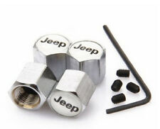 Jeep 4x CHROME BOUCHONS DE VALVE ANTI VOL Tyre Valve Dust Caps