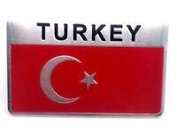 Sticker Aufkleber Emblem Türkei Turkey Flagge Auto Metall selbstklebend Türkiye