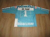 """Düsseldorfer EG Blacky Eishockey Trikot 1991/92 """"EPSON"""" + Nr.1 De Raaf Gr.M"""