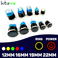 Metal Black Push Button Switch Led Momentary Latching Pc Boat Car Light Switch