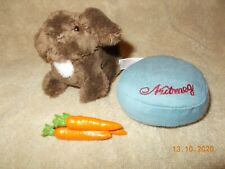 American Girl Doll Julie's Pet Rabbit Nutmeg with name Pillow and Carrots EUC