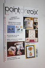 Magazine Points de croix n° 5  Février 2000 - Le monde magique de bébé