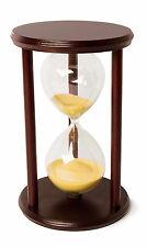 Hourglass Sand Timer - 60 Minute 1 Hour Wooden Sandtimer -Round
