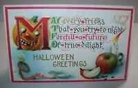 Vintage Halloween Greetings Postcard 1911 Embossed Original Series 142 Antique