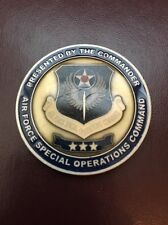 Air Force Special Operations AFSOC Commander Air Commando Enamel Challenge Coin