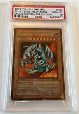 Yu-Gi-Oh 1st Edition Magic Ruler Blue Eyes Toon Dragon MRL-000 Holo PSA 10 GEM