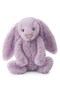 "Jellycat Bashful Bunny Medium Plush Rabbit 12"" Soft Purple Stuffed Animal New"