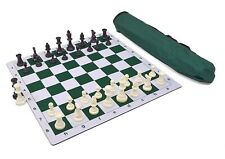 Wholesale Chess Triple Weighted Pieces and Mousepad Board Chess Set (Green)