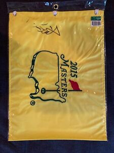 jordan speith signed 2015 masters flag autograph- authentic
