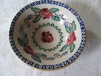 Nicholas Mosse -Kilfane Rose-Red Rose,Blue Diamonds-Rim Cereal Bowl(s)-7 Avail