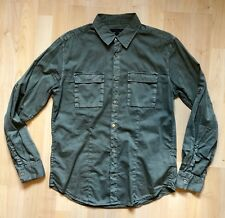 John Varvatos Star USA Utility Button-Down Shirt – Olive – M – Men's