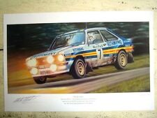 A  PRINT OF MALCOLM WILSON IN ESCORT RS1800 ON 1981 WELSH RALLY