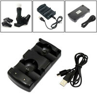 For Sony Playstation3 PS3 Move Controller Dual USB Charger Charging Dock Station