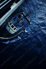 1957 san pedro inspector boat tugboat  35mm Slide Sq12
