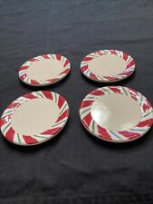 New ListingLongaberger Pottery Peppermint Twist Coasters (Set Of 4) New/In Org. Box #31875