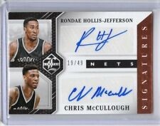 2015-16 Limited Duos Signatures #2 Chris McCullough/Rondae Hollis-Jefferson/49