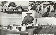 Scotland Postcard - Views of Gretna Green - Real Photograph  ZZ775