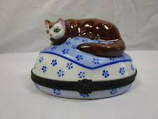 Limoges Kitten Trinket Box Horchow Collection