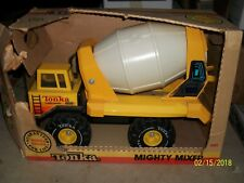 tonka mighty mixer cement truck in box