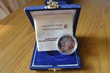 CONFEZIONE MONETA REPUBBLICA ITALIANA 500 LIRE 1986 ANNO PACE ARGENTO 835 PROOF