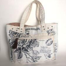 True Religion Womens Handbag Boho Print Canvas Tote Shopping Bag