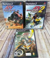 3 Game Lot ATV Offroad Fury 1,2 & 3 PlayStation 2 PS2 Game