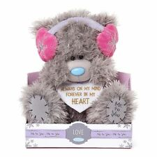 """Me to You 9"""" Forever In My Heart Pink Earmuffs Plush - Tatty Teddy Bear"""