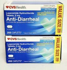 2 Pack Anti-Diarheal 2 mg 200 Caplets ea Exp:12/2021