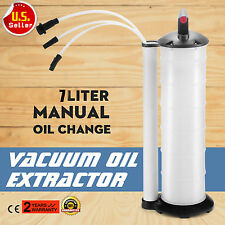 Oil Fluid Extractor 7L Manual Vacuum Fuel Petrol Pump Transfer Syphon Suction US